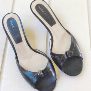 """Marc Jacobs Black Sandal Shoes With 1.5"""" Heel 7.5"""